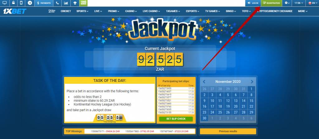1xBet jackpot in Africa