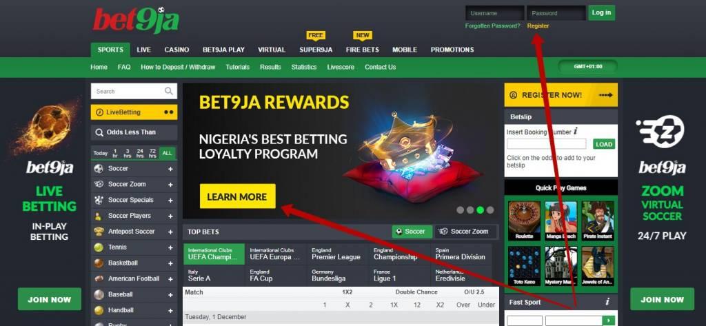 Bet9ja casino bonuses