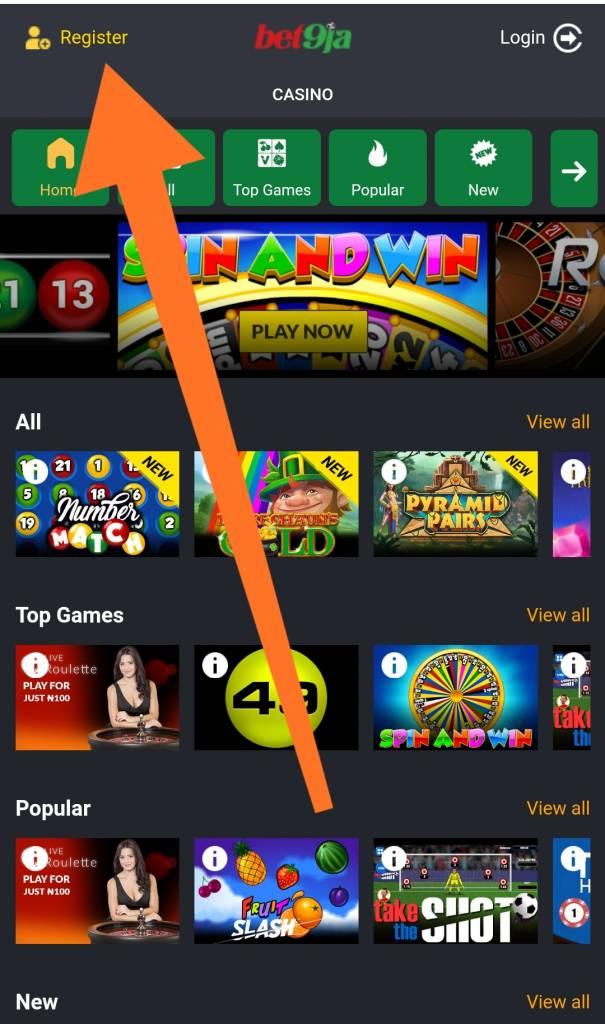 Bet9ja casino mobile