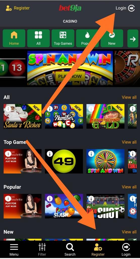 Bet9ja mobile casino in Africa