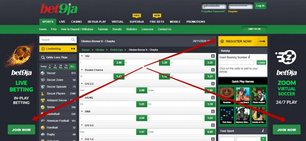 Bet9ja official website review