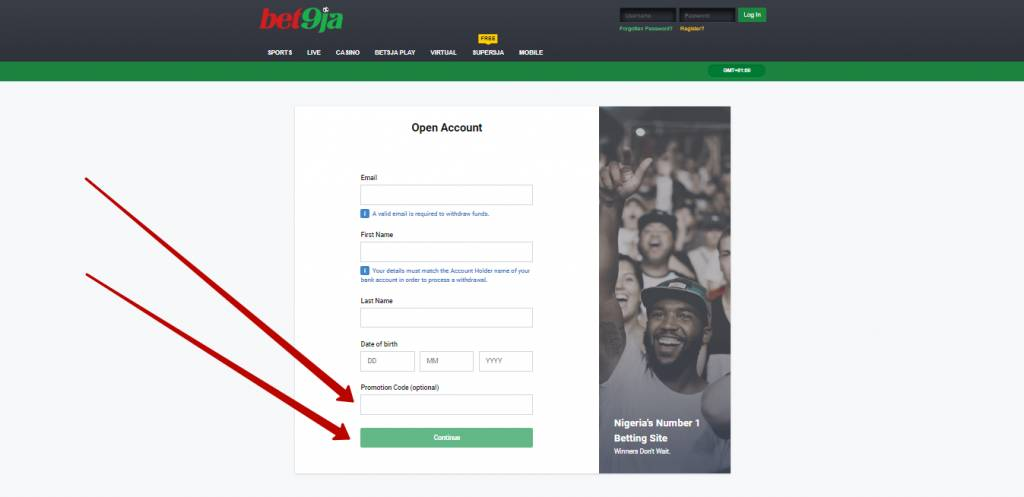 Bet9ja promotion code for registration