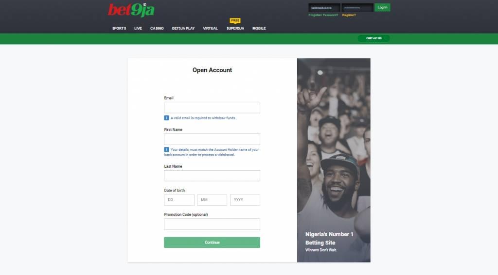 Bet9ja registration online