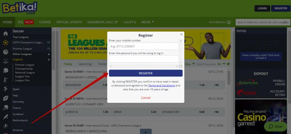 Betika registration online