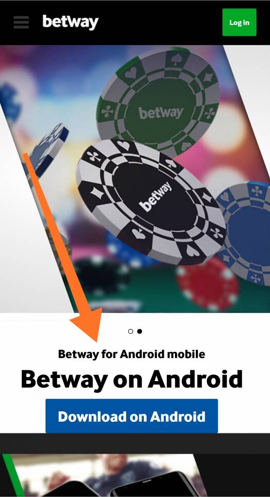 Betway app Android for mobile