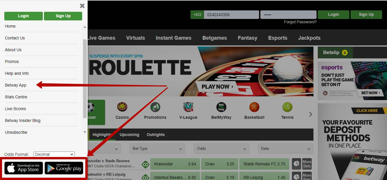 Betway app download for free