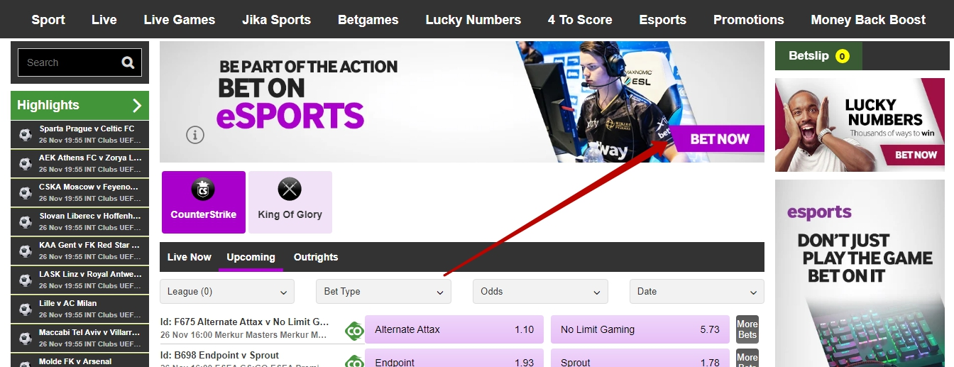 Betway official website review