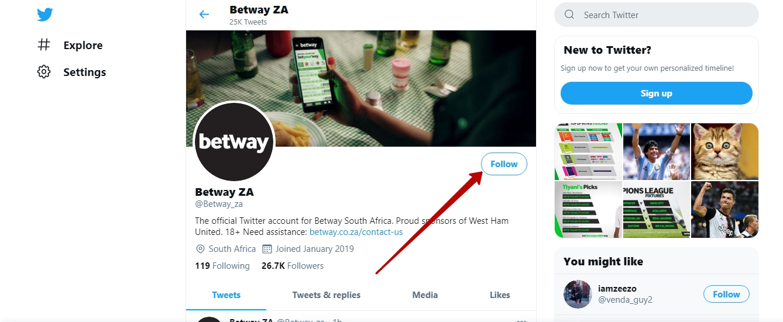 Betway online gambling platform