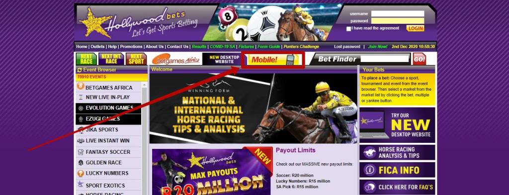 Hollywoodbets app for mobile betting
