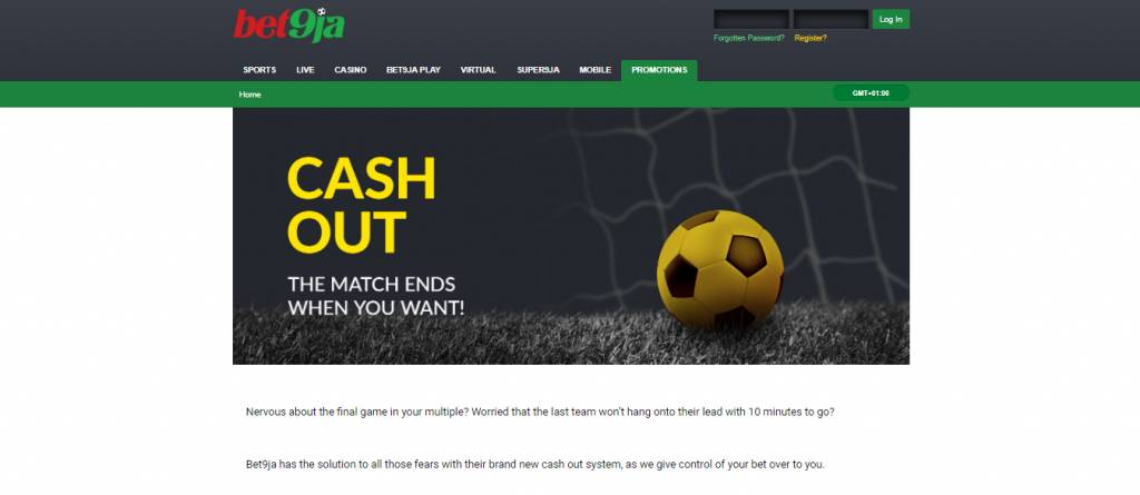 How to cash out Bet9ja bonus