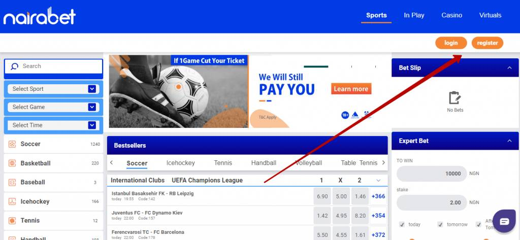 Nairabet review in Africa