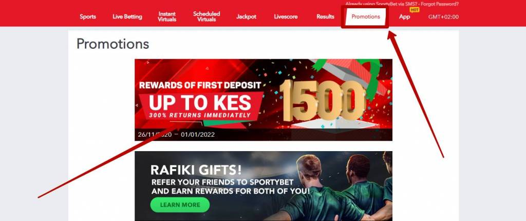 Sportybet bonuses and promotions