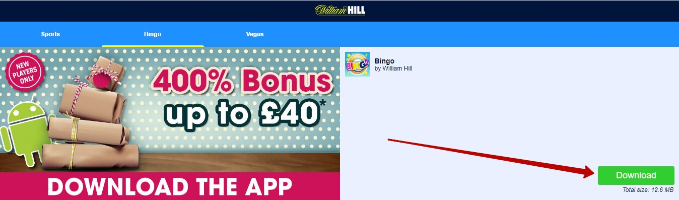William Hill app download for Android and iOS