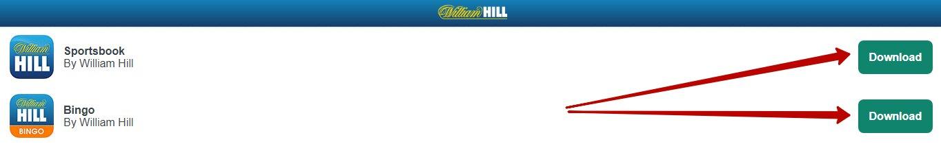 William Hill app for iPhone