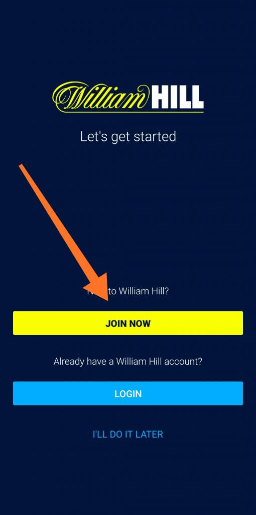 William Hill mobile login
