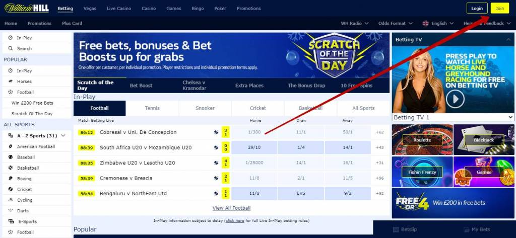 William Hill registration in Africa