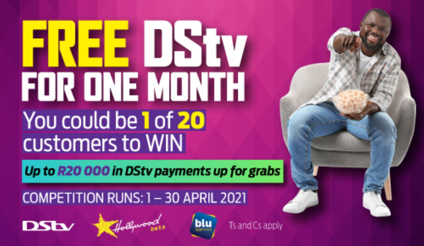 Free DStv by Hollywoodbets for a month!