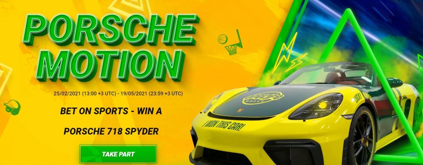 win a Porsche 718 Spyder from Betwinner